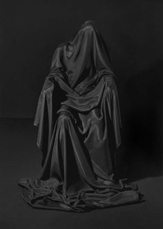 Laurence Demaison, Noire Soeur n°3 #fabric #photography #black