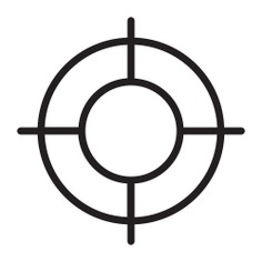 See more icon inspiration related to target, aim, sniper, shooting, seo and web and weapons on Flaticon.