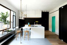 Functional Apartment Space in Tel Aviv With Cheerful Colors - #decor, #interior, #homedecor, home decor, interior design