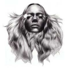 FFFFOUND! | tumblr_l5i01tZJdw1qc7msoo1_400.jpg (400×400) #hair #illustration #woman