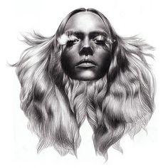 FFFFOUND! | tumblr_l5i01tZJdw1qc7msoo1_400.jpg (400×400) #hair #illustration #woman
