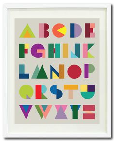 geometric alphabet print by Gathered Nest Designs / featured on discoverpaper.com