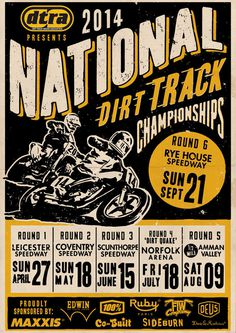DTRA 2014 season poster #illustration #flattrack #motorcycle #racing #design #poster