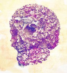 Violet Skull #skull #design #sculpture