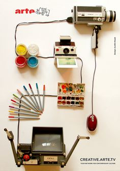 Pub ArteCreative #arte #camera #color #advertising #watercolor