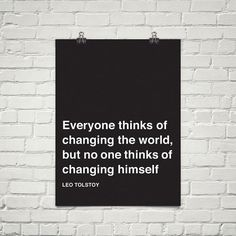 Think #quote #print #art #poster #typography