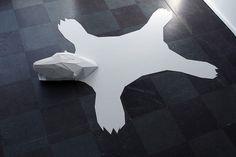 Polar bear rug | FORM US WITH LOVE design studio #rug #polar #paper #bear