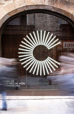 Museum of World Cultures in Barcelona #signage #logo