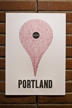 Google Places in Portland: #poster