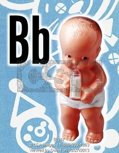 Baby Drinking a Bottle #layout #letters #csa