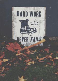 Neuarmy Surplus Co. Hard Work Never Fails. #cl