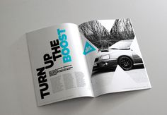 Project PRX Magazine on Behance #swiss #magazine #gotham #automotive #design #clean #mono #photography #triangle #layout #car #brochure