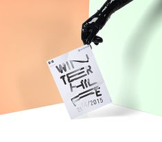 WINTERHILFE EXHIBITION POSTER on Behance BY ORFEO LANZ  ORFEOLANZ.CH