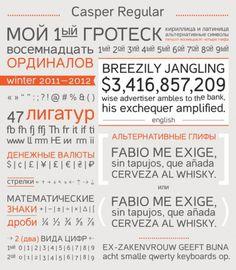 Casper on the Behance Network #font #symbols #typography