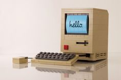 Chris McVeigh's LEGO Model of the Original Mac 01 #computer #apple #lego