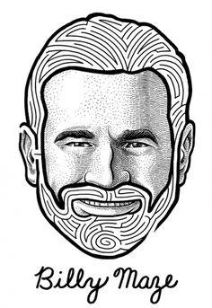 Mario Zucca | Illustration #illustration #portrait #maze #billy mays