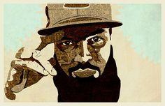 Stalley | Illustration | KyleMosher.com #stalley #design #newspaper #illustration #rapper #vintage #hip-hop