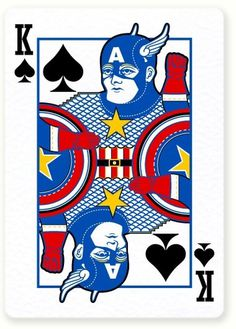 Poker Vengadores : Miguel Naranjo #design #captain #comic #miguel #illustration #poker #naranjo #avengers #america