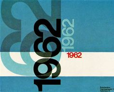 Beautiful Mid-century corporate annual cover #graphic design #1960s #typography #grid #mid century design