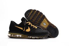 Nike all palm nano drop plastic technology Men's Air Max 2017 Sports Shoes Black gold
