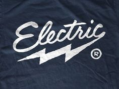electric bolt #lettering #electric #ray #brand #logo