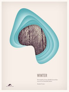 The Four Seasons on Behance #poster #layout #four #seasons #winter #collage