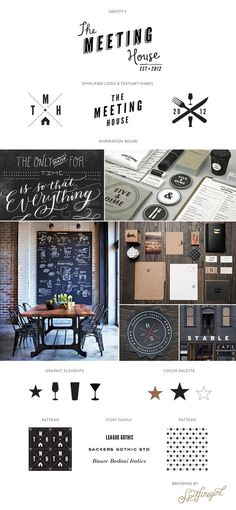 visual ID / The Meeting House / © Spitfiregirl Design #catering
