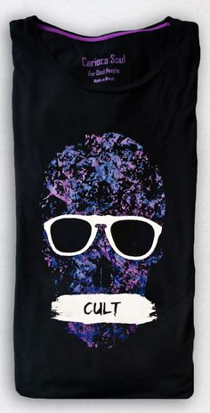 Estamparia | Carioca Soul | Cult #glasses #carioca #shirt #cult #tee #skull #soul
