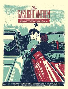 The Gaslight Anthem poster by El Jefe #music #silkscreen #poster #typography
