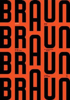 Stunning Posters Celebrate Dieter Rams' 1960s Design For Braun DesignTAXI.com #poster #braun #orange #black