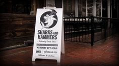 WE MIGHT BUY GOLD! – Welcome to Eastvan #design #graphic #sharks #illustration #hammers #typography