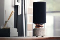 Spruce up and liven your space at the same time with Hult's beautifully designed wireless speaker, Pavilion. #productdesign #modern #lifesty