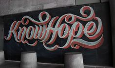 Knowhope #lettering #chalk #typography