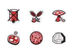 Dribbble - Mushroom Packaging by Kyle Tezak #packaging #icons