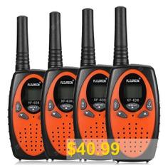 FLOUREON #8 #Channel #4 #Twin #Walkie #Talkies #UHF400-470MHZ #2 #Way #Radio #3KM #Range #Interphone #0range