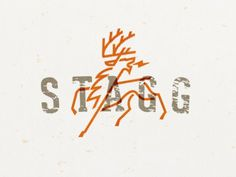 STAGG design by Mike Bruner #mike #graphic #stag #powerful #bruner