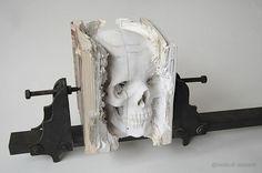 Bookmarks #design #art #book #skull