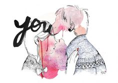 Bleeding love | Flickr - Photo Sharing! #isabelle #lovers #laydier #bleeding #watercolor #love