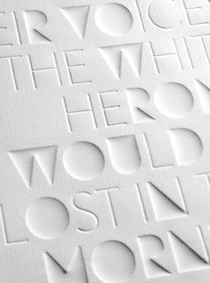 Haiku Eli Kleppe #font #letter #letterpress #typography