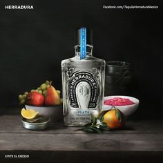 Tequila Herradura on Behance #pairing #bottle #silver #alcohol #fruit #glass #wood #pair #still #tequila #herradura #life #oil