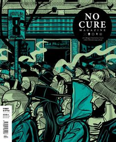 Cover illustration for No Cure magazine #vector #cover #illustration #streetwear #street #magazine