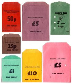 Money bags #colours #money #bags