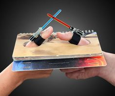 Star Wars Lightsaber Thumb Wrestling Kit #gadget