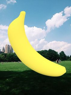 banana in central park http://anneleedesigns.tumblr.com/ #banana #design #park #illustration #central #york #nyc #new