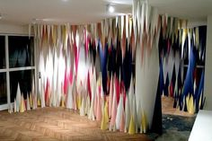 Paper Cave Installation Art #installation #art #cave #paper #installation art