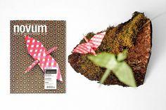 Wonderful cover design for novum magazine #origami #design #graphic #novum