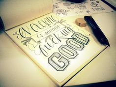 Everyone is good... #font #handdrawn #illustration #art #type