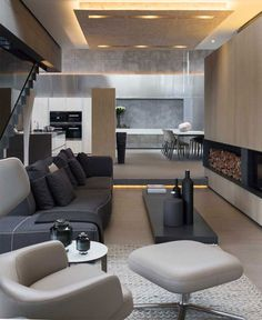 Modern Home that Emanates Luxury and Functionality double volume living zones
