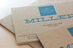 WeAreMiller.com Business Cards #business #wearemiller #card #print #board #letterpress
