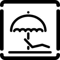 spiaggia attrezzata, via Flickr. #iconography #icon #sign #icons #symbols #signs